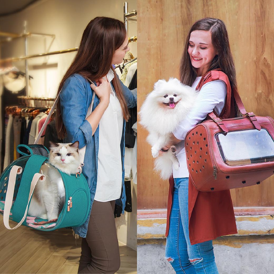 ★新品上市★雙魚兩面透明寵物提包/移動櫥窗透明寵物提包